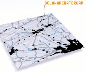 3d view of Delaware Water Gap