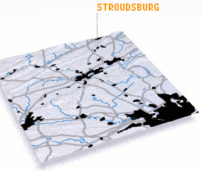 3d view of Stroudsburg