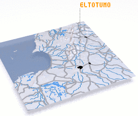 3d view of El Totumo