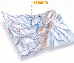 3d view of Mesa Alta