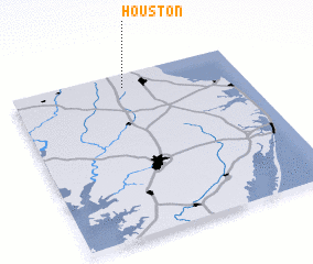 3d view of Houston
