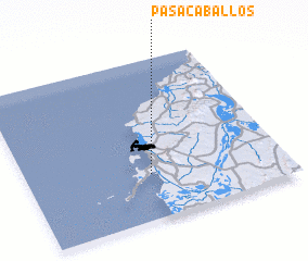 3d view of Pasacaballos
