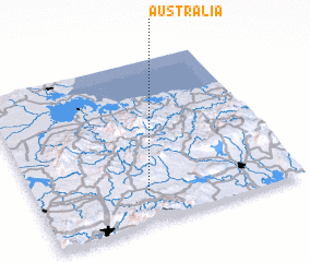 3d view of Australia