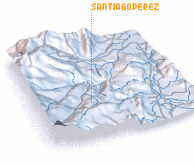 3d view of Santiago Pérez