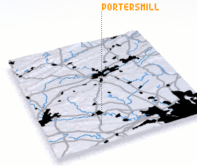 3d view of Porters Mill