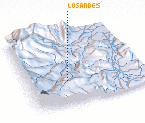 3d view of Los Andes
