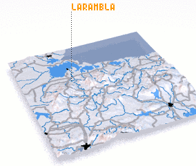 3d view of La Rambla