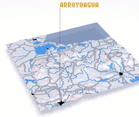 3d view of Arroyo Agua