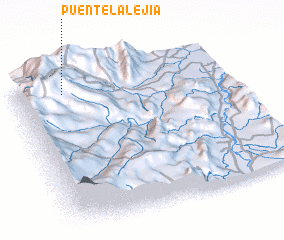 3d view of Puente La Lejía