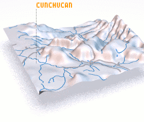 3d view of Cunchucán