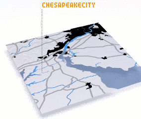 3d view of Chesapeake City