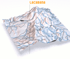 3d view of La Cabaña