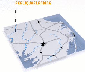 3d view of Pealiquor Landing