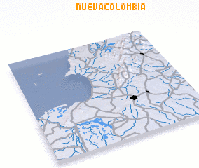 3d view of Nueva Colombia