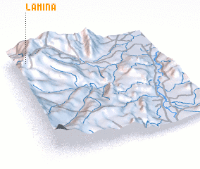 3d view of La Mina