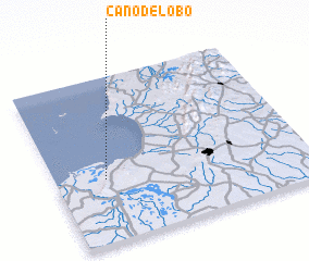 3d view of Caño de Lobo