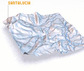 3d view of Santa Lucía