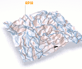 3d view of Apía