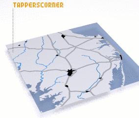 3d view of Tappers Corner