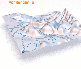 3d view of Yacuacancha
