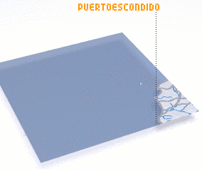 3d view of Puerto Escondido