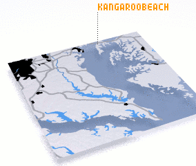 3d view of Kangaroo Beach
