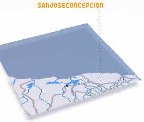 3d view of San José Concepción