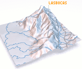 3d view of Las Bocas