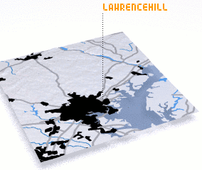 3d view of Lawrence Hill