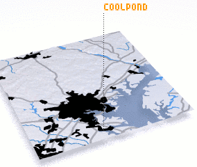3d view of Cool Pond