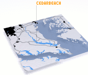 3d view of Cedar Beach