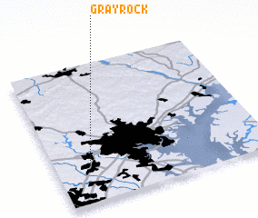 3d view of Gray Rock