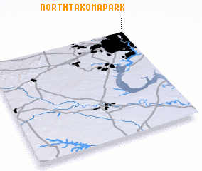 3d view of North Takoma Park