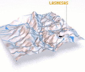 3d view of Las Mesas