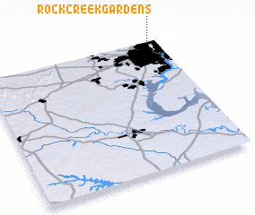 3d view of Rock Creek Gardens