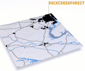 3d view of Rock Creek Forest