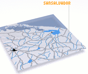3d view of San Salvador