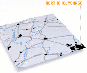 3d view of North Chevy Chase
