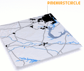 3d view of Pinehurst Circle