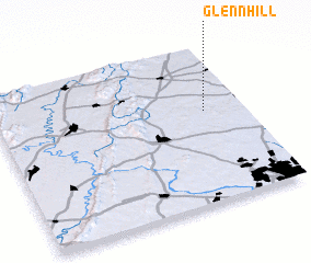 3d view of Glenn Hill