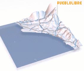 3d view of Pueblo Libre