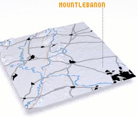 3d view of Mount Lebanon