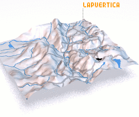 3d view of La Puertica
