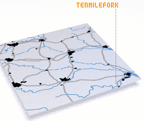 3d view of Tenmile Fork