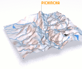 3d view of Pichincha