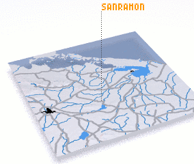 3d view of San Ramón