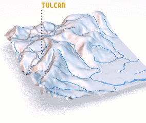 3d view of Tulcán