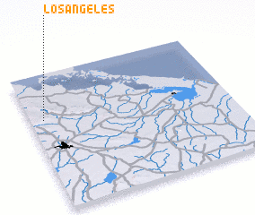 3d view of Los Ángeles