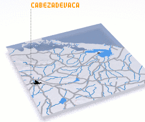 3d view of Cabeza de Vaca