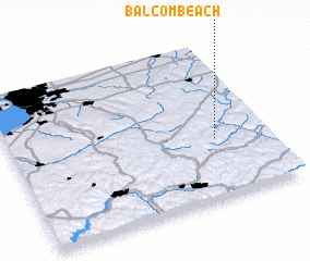 3d view of Balcom Beach
